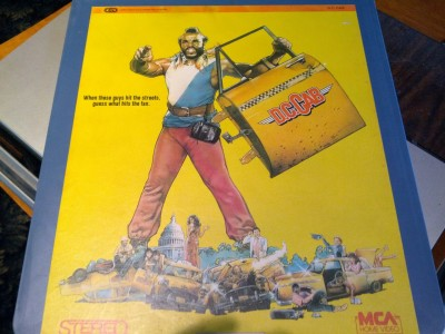 Crazy Mr. T stereo video laser disc from the 70s or 80s.