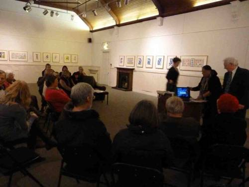A busy night on Friday in the Gallery for the MATISSE: Drawing with Scissors preview. Our member Anisa Caine gave a wonderful talk about the artist.