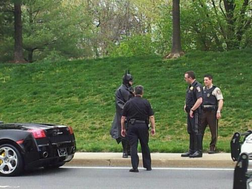 theclearlydope:  This park needs a hero.  BATMAN!!!!
