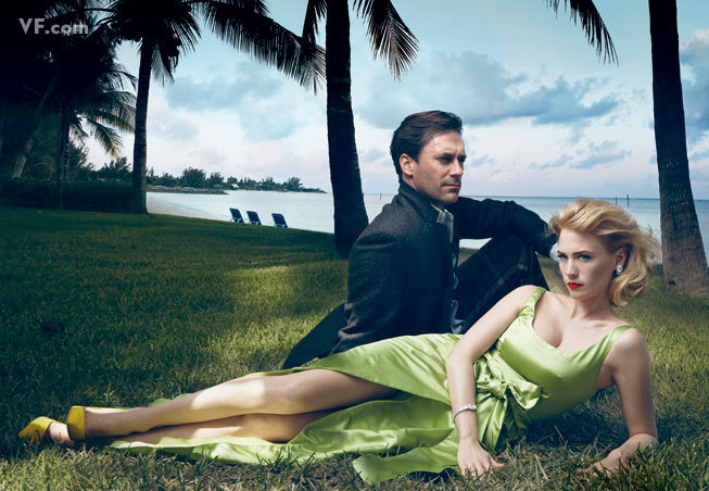 January Jones and Jon Hamm photographed by Annie Leibovitz for Vanity Fair, September 2009