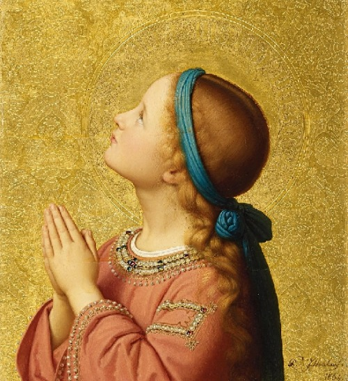 poboh:   The Virgin Mary, Franz Ittenbach. Germany (1813 - 1879)
