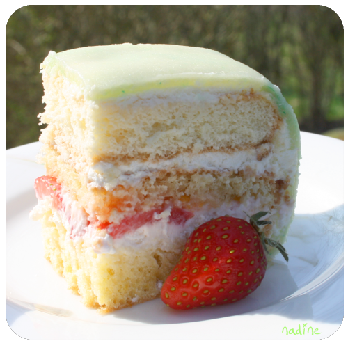 Strawberry and Cream Birthday Cake