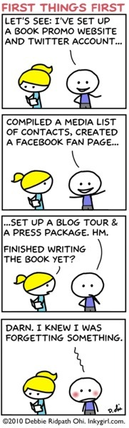 LOL. Book promotion/author platform building is so complicated these days!