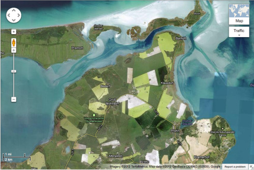 gorgeous google map image of the baltic coast