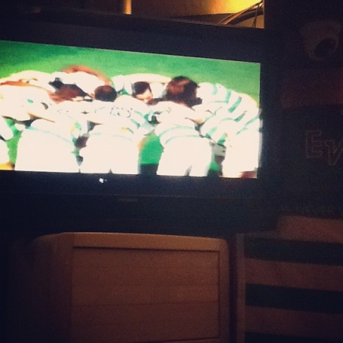 the huddle when rangers die (Taken with Instagram at scrooge pub)
