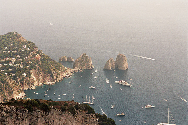 | ♕ |  Sailing Heaven - Isle of Capri, Tyrrhenian Sea  | by © Max Lordag