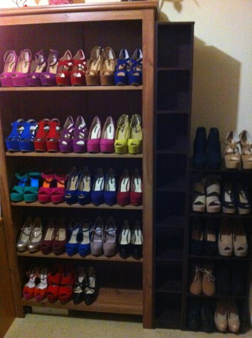 lookingforcam:  my shoe closet jk i wish hahaha
