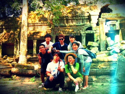 A photo with my Korean Friends. I met them randomly in Angkor Wat, Cambodia. Well guys, my name is Diky not Micky -__-