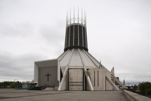 "beconinriot:  Steve Cadman ""Frederick Gibberd: Liverpool Metropolitan Cathedral""   Been there, looks crazzy from inside"