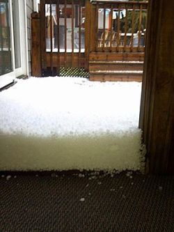 Virginians, Carolinians Asking 'What the Hail?  Hail covered the ground up to 6 inches deep in some communities on Saturday from southwestern Virginia into South Carolina.