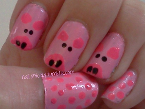 Oink oink! Idea came from http://www.beautylish.com/a/vciig/down-on-the-farm.