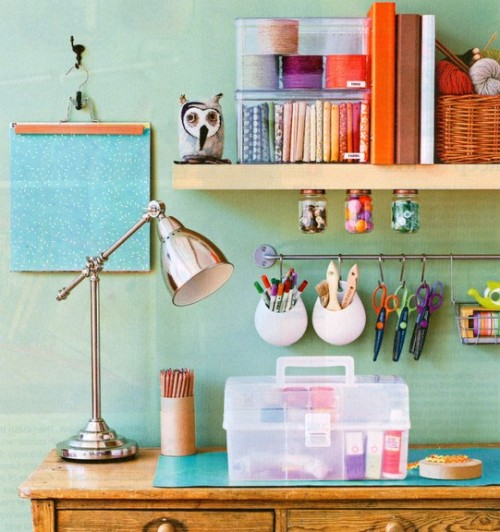 colourful crafts room (via DigsDigs)