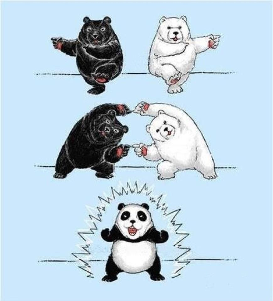 how to make a panda. so now you know.