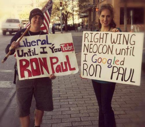 johnnygoldwater:  heyheyitsteytey-v2:  RON PAUL 2012!!!  I was just very confused because neither side really made any sense. -JG