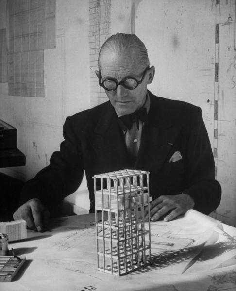 Le Corbusier (photographer unknown) (via experimentaljs)