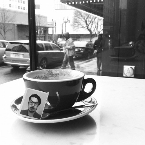 At Stumptown Coffee in Ace Hotel Portland — posted to Twitter by Yusuke Tanaka.