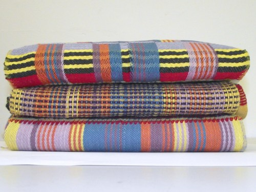 These are beautiful weavings, I particular like the middle sample and I like the colours :) clairwhyman:  Final Wallace and Sewell samples