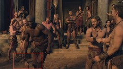 Lol, anyone else who noticed how Crixus was rejected by Oenomaus in this scene?