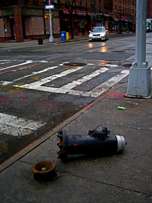 In 1863, Birdsill Holly invented the modern version of the fire hydrant. (jackson heights, queens, ny)