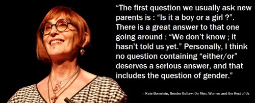 LGBTQ* Quotes and Quips Kate Bornstein, Gender Outlaw