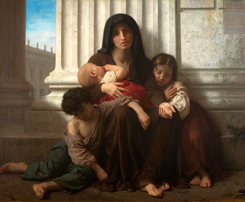 CHARITY, 1865 - William Adolphe Bouguereau (1825-1905)