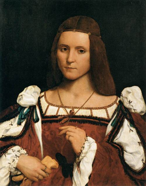 CAROTO, Giovanni Francesco (1488-1562) Portrait of a Woman 1505-10 Oil on wood, 69 x 53 cm Musée du Louvre, Paris