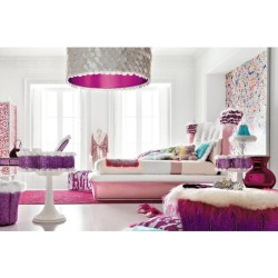 White Purple Luxurious Teen Bedroom Design Image « White Purple…