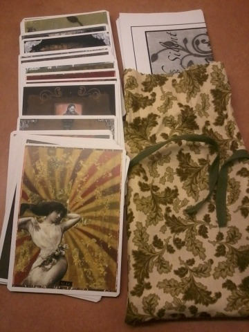 the complete deck, with bag, and booklet