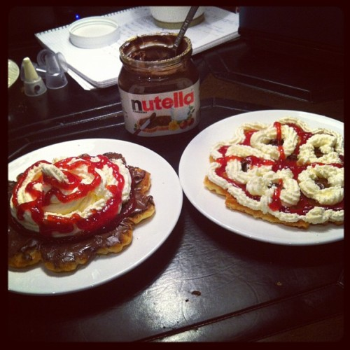 Waffle day!! #waffles#whipcream#nutella#desert#delicious#food#strawberry#gothenburg#sweden#2012#instamood with @becciiiiii  (Taken with instagram)