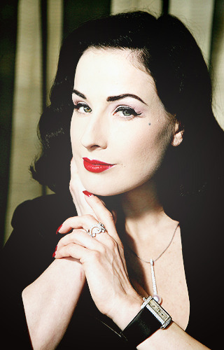 Dita von Teese as fem!Jim Moriarty