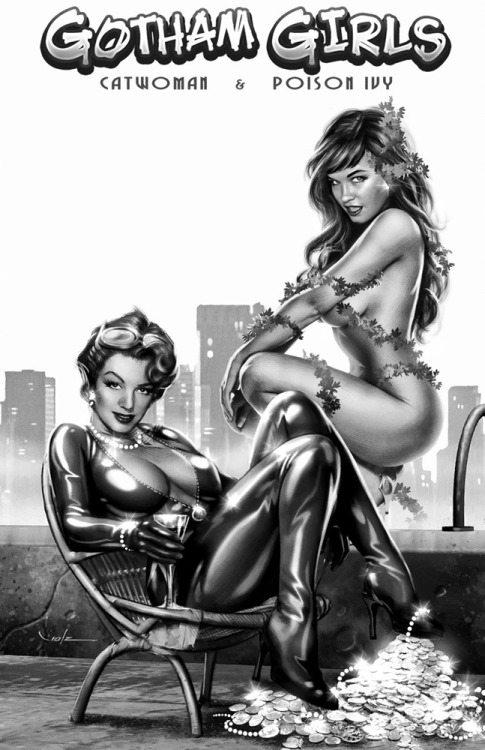 DC hotties for life. Gotham Girls, by Carlos Valenzuela.
