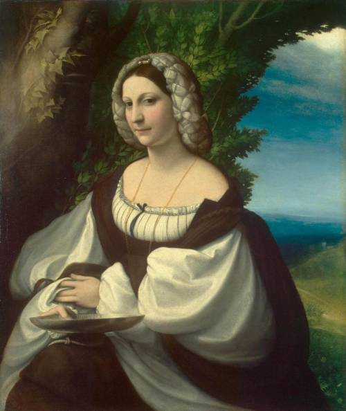 CORREGGIO (1490-1534) Portrait of a Gentlewoman 1517-19 Oil on canvas, 103 x 87,5 cm The Hermitage, St. Petersburg