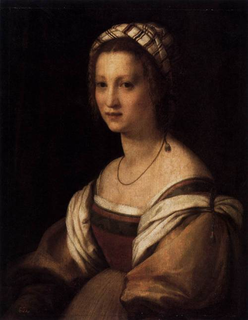 ANDREA DEL SARTO (1486-1530) Portrait of the Artist's Wife 1513-14 Oil on panel, 73 x 56 cm Museo del Prado, Madrid