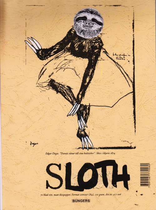 I'm making a sloth drawing pad, sloths only untill i filled the whole book.