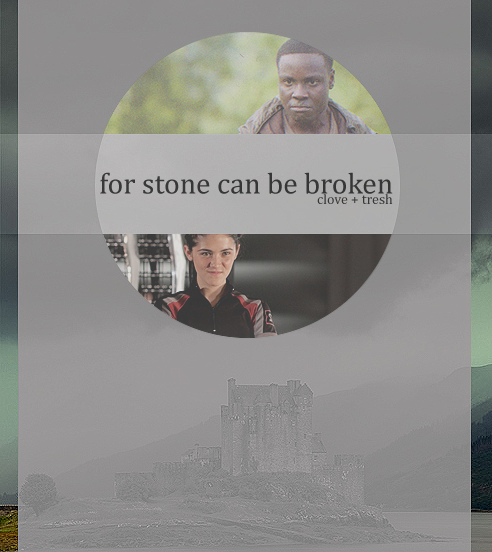 "for stone can be broken - a clove+thresh fanmix.[download] 1. i wanna rock - twister sister.2. we will rock you - queen.3. rock me amadeus - falco.4. rock lobster - the b-52's.5. rock around the clock - bill haley & his comets.6. rock your body - justin timberlake.7. rock with you - michael jackson.8. rock you like a hurricane - scorpions.9. hits me like a rock - css.10. rock me gently - andy kim.11. rock the night - europe.12. stop the rock - apollo 440.13. main theme to ""the rock"" - hans zimmer."