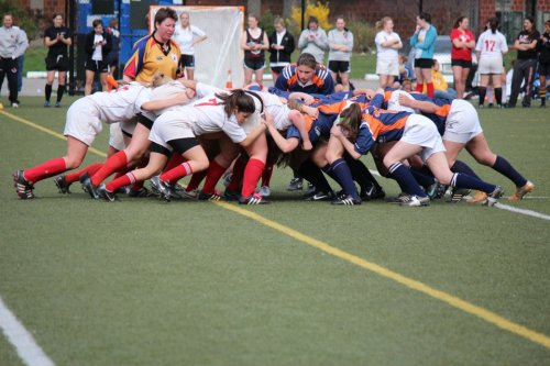 Scrum from NYC Four Leaf 15's yesterday  We're the blue and orange :)