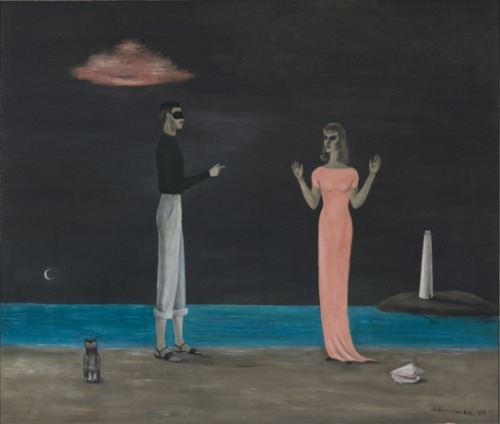 The Courtship by Surrealist painter Gertrude Abercrombie