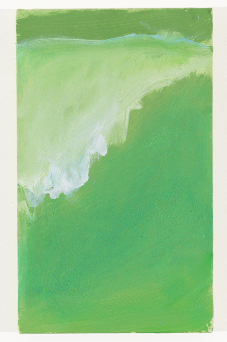 unbuiltroads:  Mary Heilmann, Green Wave, Surfer's Dream, 2008, oil on canvas, 14 7/8 x 9 inches