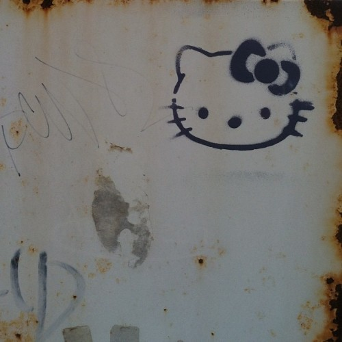 #nofilter #noedit #hellokitty #graffiti #love #art #artwork #akron #universityofakron (Taken with instagram)