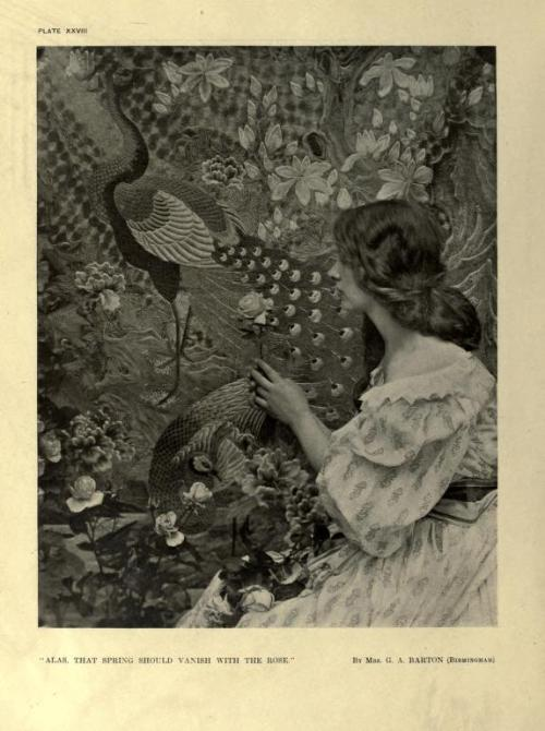 """Alas, that spring should vanish with the rose"" by Mrs. G.A.Barton  plate XXVIII from Photograms of the year 1914"