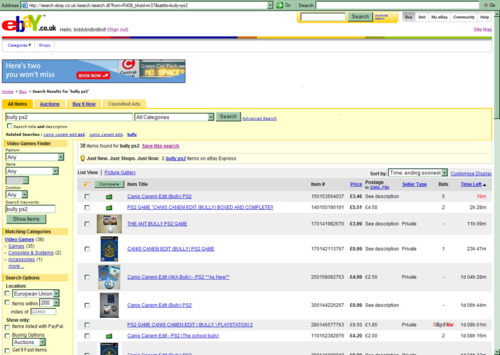 image of ebay.com homepage