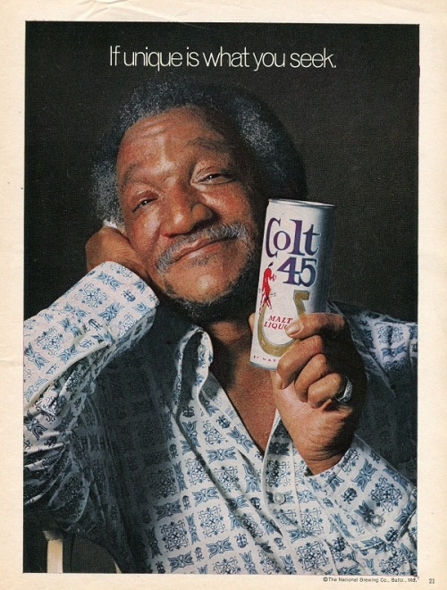 From the magazine archives, ol' Redd Foxx is one smooth customer.  Way before Billy Dee was touting the benefits of Colt 45, Mr. Foxx was paving the way for smoothness.  Stay smooth.