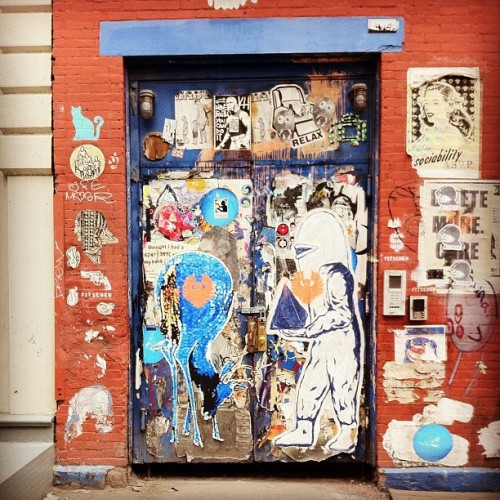 SoHo's most prevalent Street Artists captured on 1 Wall / Enjoy / #soho #nyc #streetart  (Taken with Instagram at Soho)