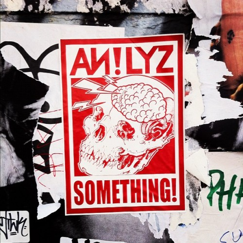 AN!LYZ Something! / Calacas don't lie yo! / #soho #nyc #streetart  (Taken with Instagram at Soho)
