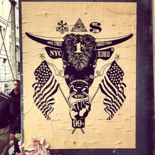 Well designed + strong message on NYC wheatpaste / #soho #nyc #streetart #ows (Taken with Instagram at Soho)