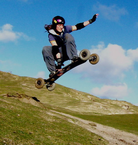 Slide skateboarder and mountain boarder Sophie Friedel has landed herself a short section in the slide skateboarding movie - The Art of Going Sideways - by the FaltownCrew. Sophie who is studying in Falmouth,Cornwall got into the sport through her love of snowboarding (as she is from Germanyoriginally) you can see a short clip of her in action here also check out http://www.faltownskateboards.com/ for more information about this new style of downhill skateboarding.