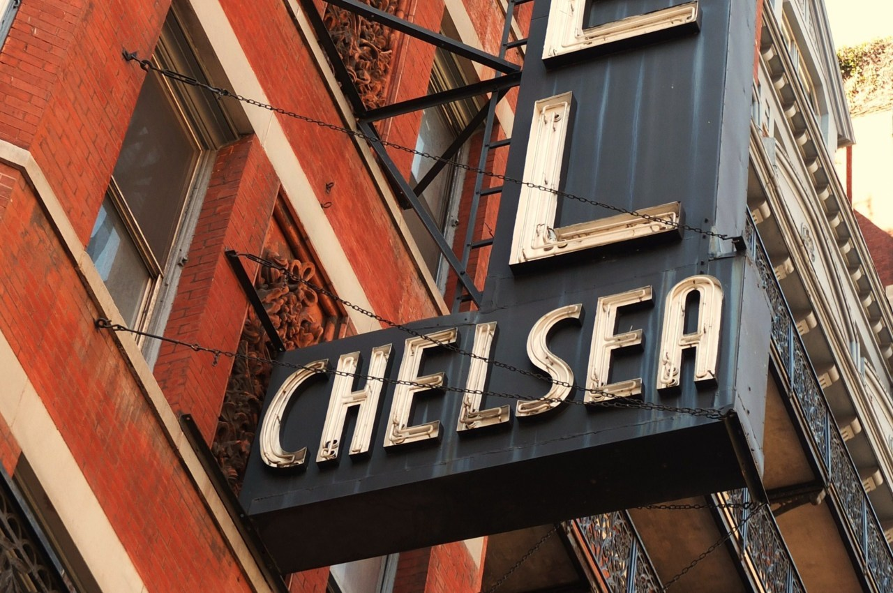 The Chelsea Hotel sign, New York Photo Thomas Filippini