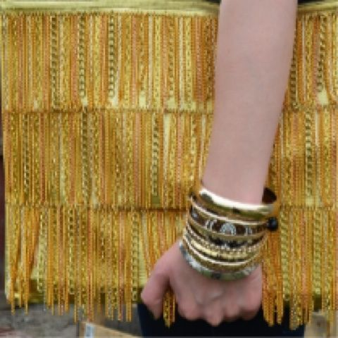 Newly blogged: DIY Chain Fringe Clutch http://typicalhousecat.com/2012/03/25/diy-gold-chain-fringe-bag-inspired-by-tods/ (Taken with Pose)
