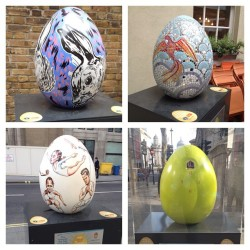 Fabrege Egg challenge #london #fabrege #eggs #challenge #charity #colours #art #culture #design (Taken with instagram)