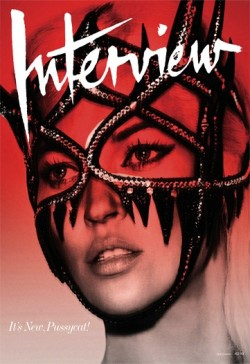 interview magazine / kate moss / manish arora mask